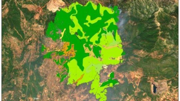 """Ο """"χάρτης"""" της πύρινης καταστροφής στην Εύβοια"""