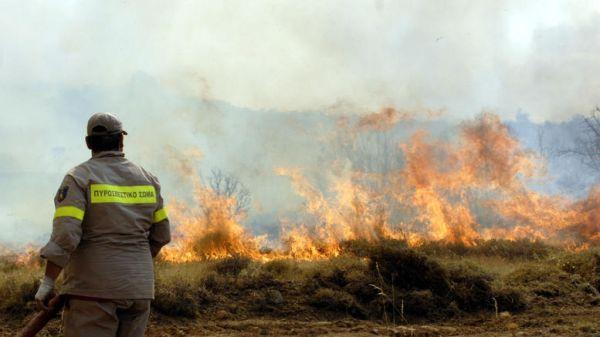 Ρέθυμνο: Σε εξέλιξη πυρκαγιά σε δασική περιοχή - Ισχυροί άνεμοι