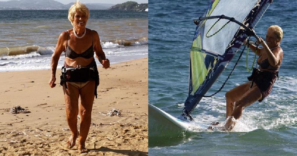 Η 81χρονη σέρφερ από την Κεφαλονιά που δαμάζει αέρα & θάλασσα