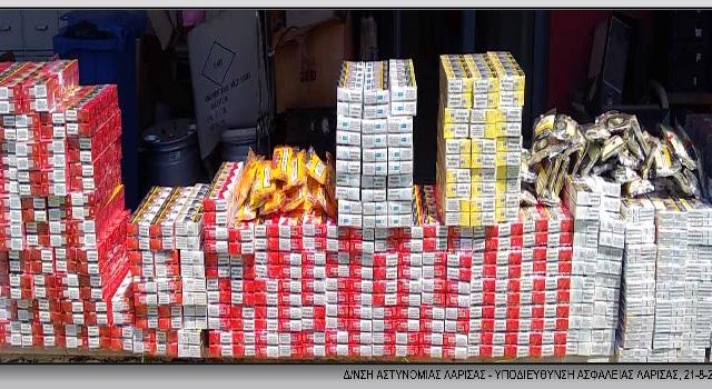 65χρονος έκρυβε σε αποθήκη χιλιάδες λαθραία τσιγάρα