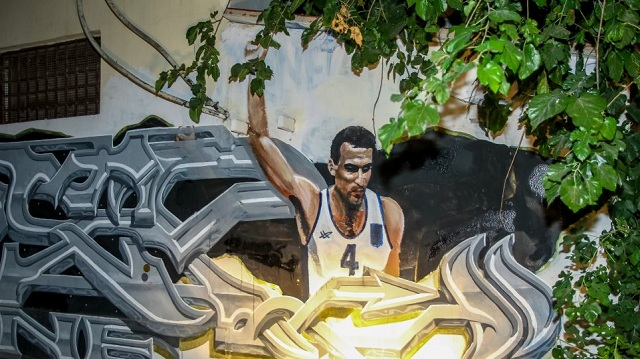 Με τη φανέλα της Εθνικής το νέο γκράφιτι με τον Νίκο Γκάλη