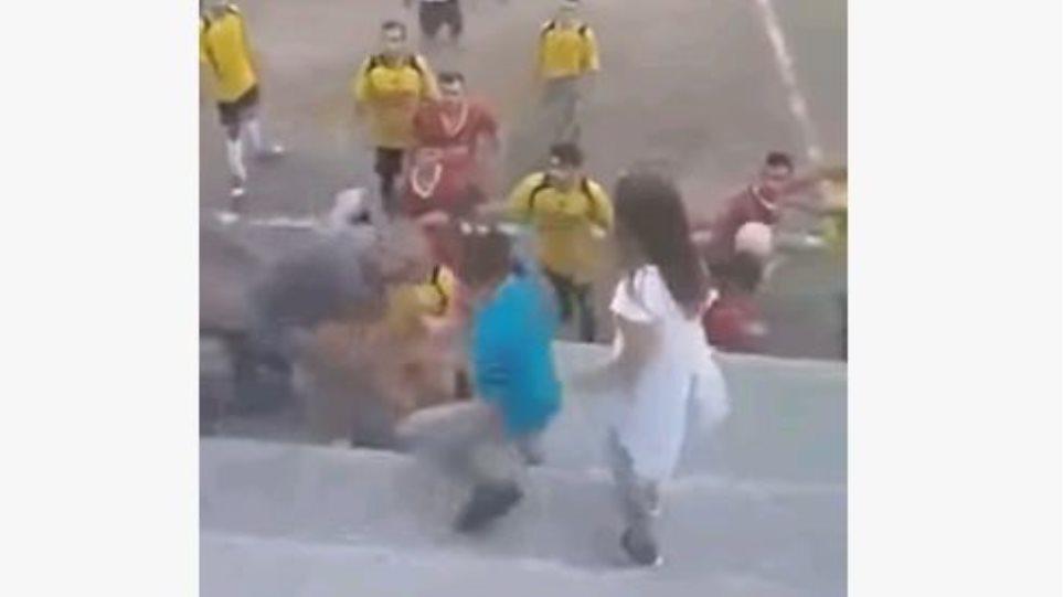 Τρίκαλα: Απίστευτο ξύλο σε φιλικό ποδοσφαιρικό αγώνα!