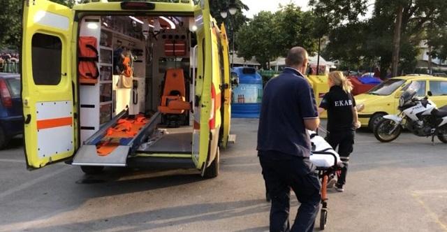Εργατικό ατύχημα στην πλατεία του ΟΣΕ στη Λάρισα