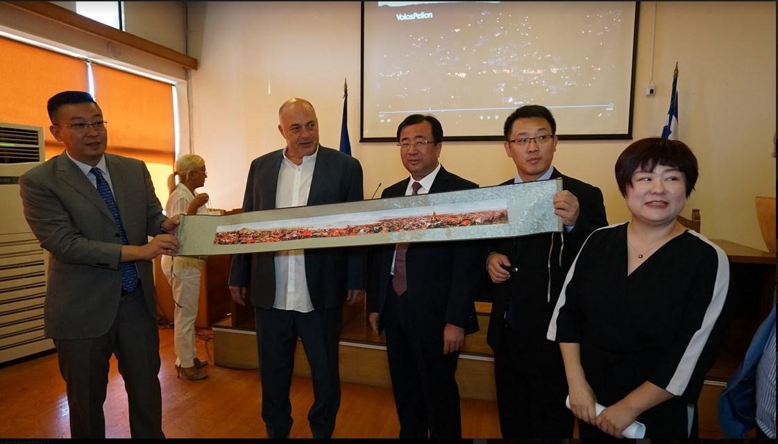 Σύμφωνο συνεργασίας μεταξύ Βόλου και της πόλης Qingdao της Κίνας