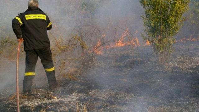 Φωτιά σε οικόπεδο στην Αγχίαλο
