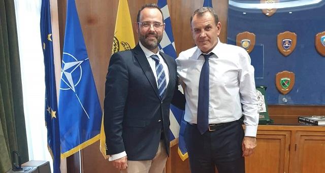 Επίσκεψη του Κων. Μαραβέγια στο Υπουργείο Εθνικής Άμυνας