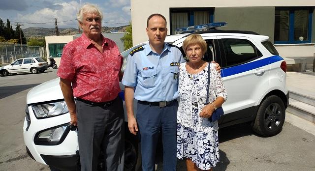 Βράβευση ομογενούς για τη δωρεά αυτοκινήτου στην Διεύθυνση Αστυνομίας Μαγνησίας
