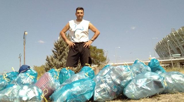 52 σακούλες σκουπίδια σε δύο ημέρες από το πάρκο της Ν. Ιωνίας