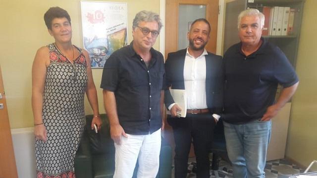 Επίσκεψη Αλ. Μεϊκόπουλου στο ΚΕ.Θ.Ε.Α. - ΠΙΛΟΤΟΣ
