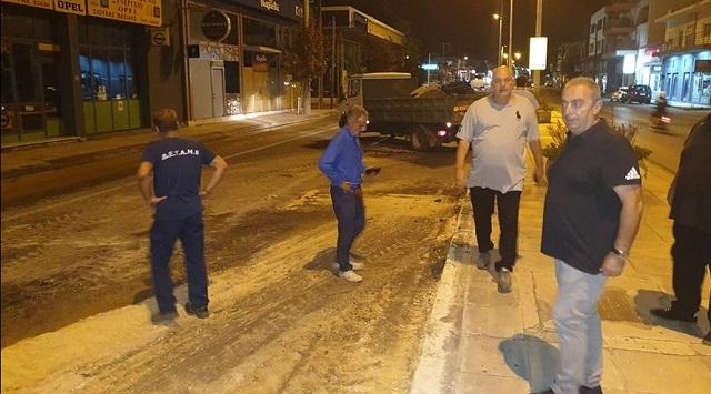 Προβλήματα στην υδροδότηση λόγω βλάβης στην οδό Λαρίσης