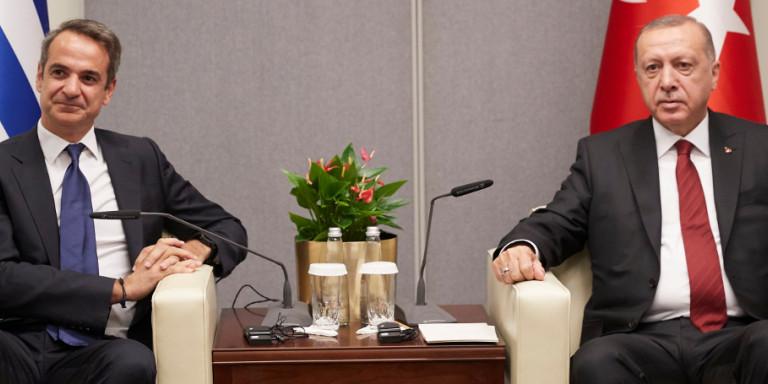 Τι συζήτησαν Μητσοτάκης και Ερντογάν: Ολα τα «καυτά» θέματα στο τραπέζι