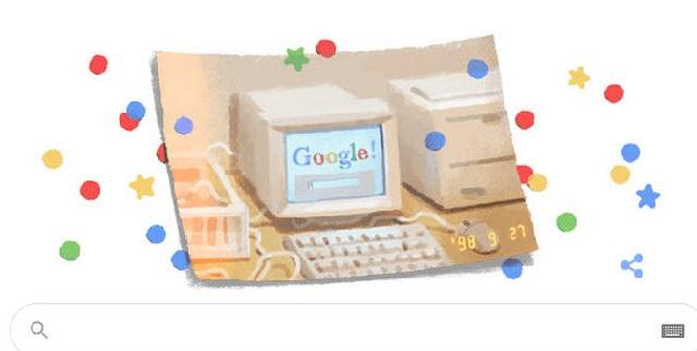 Η Google γιορτάζει τα 21α γενέθλιά της με Doodle
