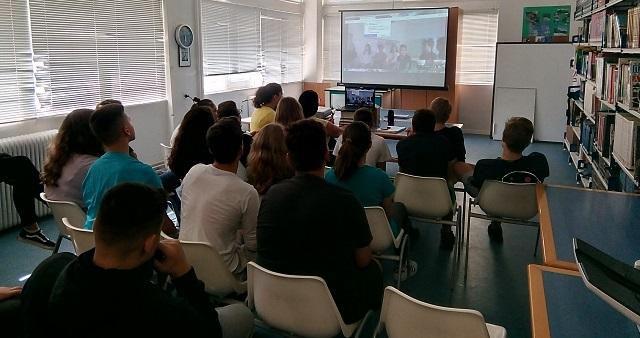 Τηλεδιάσκεψη στο Γυμνάσιο Αγριάς με αφορμή την Ευρωπαϊκή  Ημέρα Γλωσσών