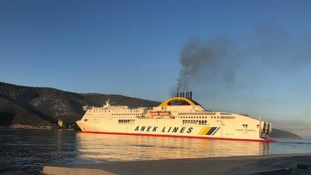 Συναγερμός στην Ηγουμενίτσα: Φωτιά σε πλοίο με 538 επιβάτες