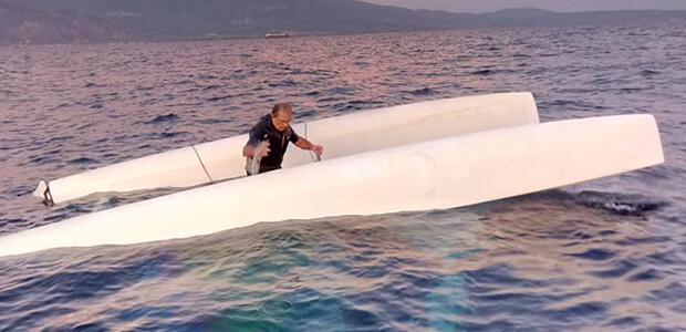 Επιχείρηση διάσωσης δύο επιβατών καταμαράν στην Κριθαριά [photos]