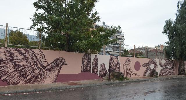 Εντυπωσιάζει η νέα τοιχογραφία της UrbanAct στον Βόλο (photos)