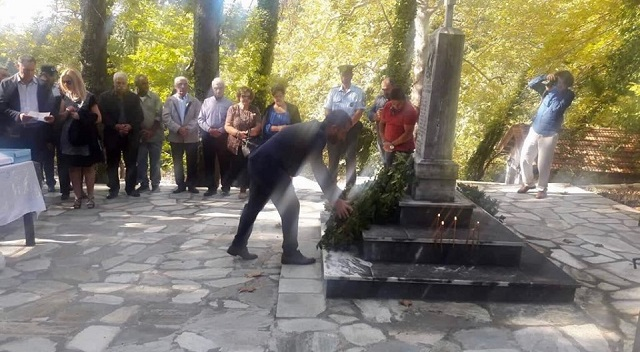 Ο Αλ. Μεϊκόπουλος στις εκδηλώσεις μνήμης του Ολοκαυτώματος των Μηλεών
