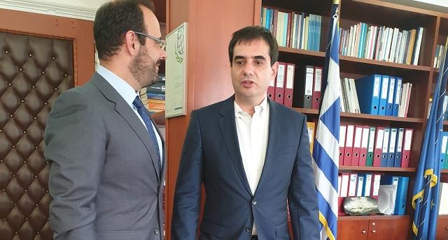 Συνάντηση Κ. Μαραβέγια με τον νέο διοικητή του ΕΦΚΑ