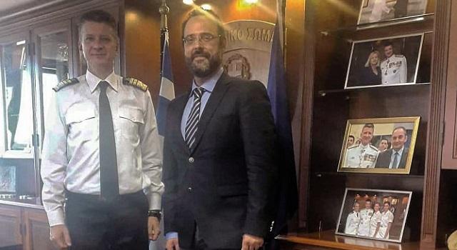 Συνάντηση γνωριμίας Κ. Μαραβέγια με το νέο αρχηγό του Λιμενικού Σώματος