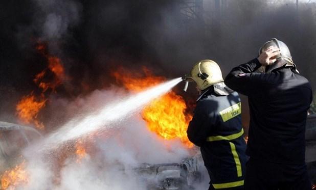 Κάηκε αποθήκη ξυλείας στην Κοιλάδα Λάρισας