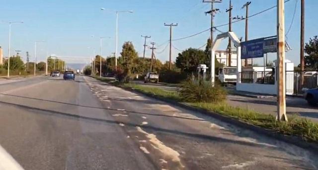 Γέμισε πετρέλαιο ο δρόμος Τρικάλων – Καλαμπάκας