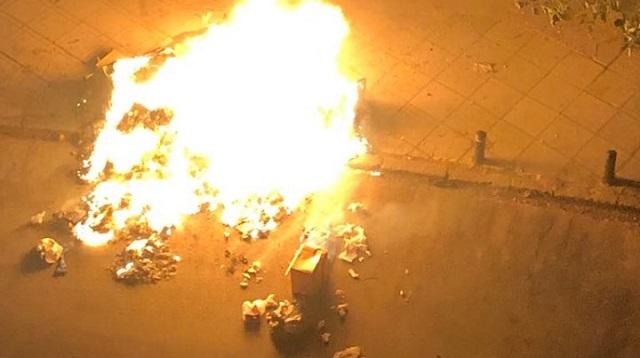 Μπαράζ εμπρησμών κάδων τη νύχτα στα Τρίκαλα