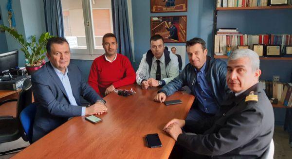 Συνάντηση Χρ. Μπουκώρου με την Ενωση Προσωπικού Λιμενικού Σώματος Κεντρικής Ελλάδος
