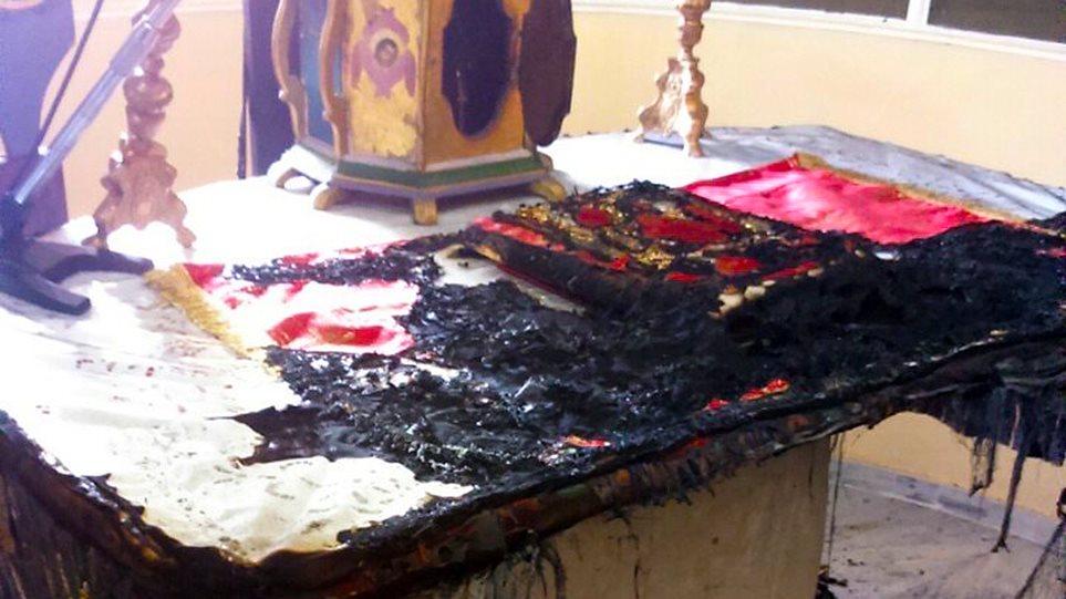 Χίος: Έκαψαν την Αγία Τράπεζα του ναού «Άγιος Χαράλαμπος»