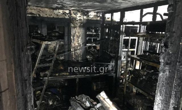 Εικόνες απόλυτης καταστροφής μετά από φωτιά σε σπίτι στην Κυψέλη –Τρεις τραυματίες
