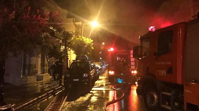 Ζημιές από φωτιά σε σπίτι στη Νέα Δημητριάδα