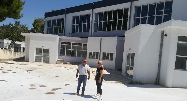 Προχωρούν οι εργασίες στο Κλειστό Γυμναστήριο Αλοννήσου