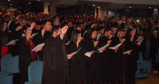 Ορκίστηκαν οι απόφοιτοι του Τμήματος Οικονομικών Επιστημών