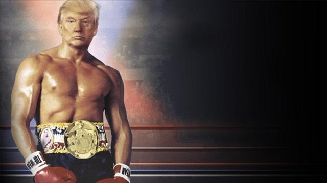 «Τρελαίνει» το Twitter ο Τραμπ: Ανέβασε φωτογραφία του ως... Ρόκι Μπαλμπόα