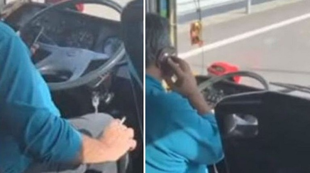 Οδηγός λεωφορείου κάπνιζε και μιλούσε στο κινητό - Τον κατήγγειλαν οι επιβάτες στο 1142