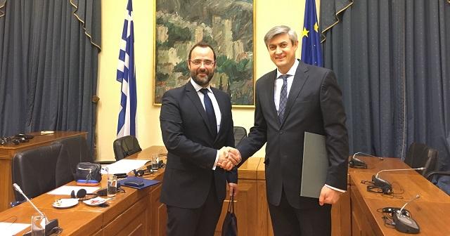 Συνάντηση Κ. Μαραβέγια με τον Πρέσβη της Μολδαβίας στην Αθήνα
