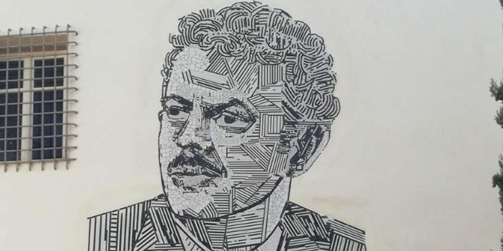 Το μεγάλο ψηφιδωτό με τον Βασίλη Τσιτσάνη εντυπωσιάζει στα Τρίκαλα