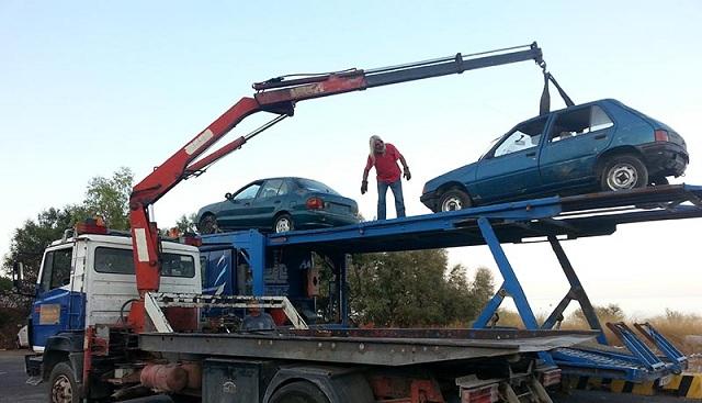 Εντοπισμός και συλλογή εγκαταλελειμμένων οχημάτων στην Σκόπελο