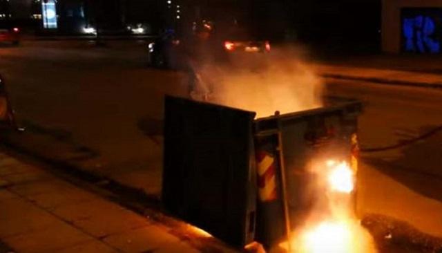 Κίνδυνοι από τις φωτιές στους κάδους στον Δήμο Βόλου