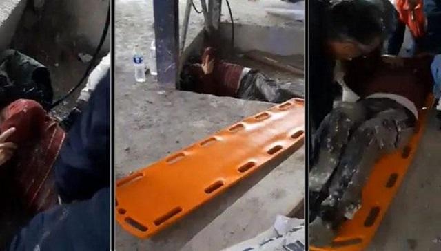 Ναύπλιο: Συγκλονιστικό βίντεο από την διάσωση ενός εργάτη που έπεσε από ξενοδοχείο