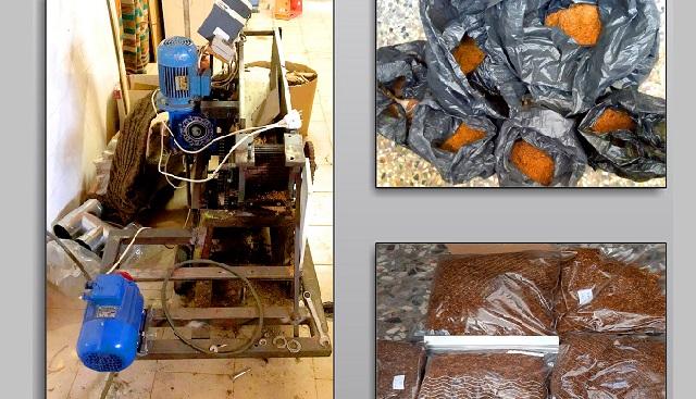 Οργανωμένο εργαστήριο συσκευασίας αφορολόγητου καπνού στο σπίτι 74χρονου