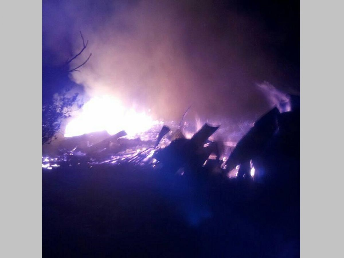 Ολική καταστροφή μετά από πυρκαγιά σε αποξηραντήριο μανιταριών στο Ζαΐμι Καρδίτσας