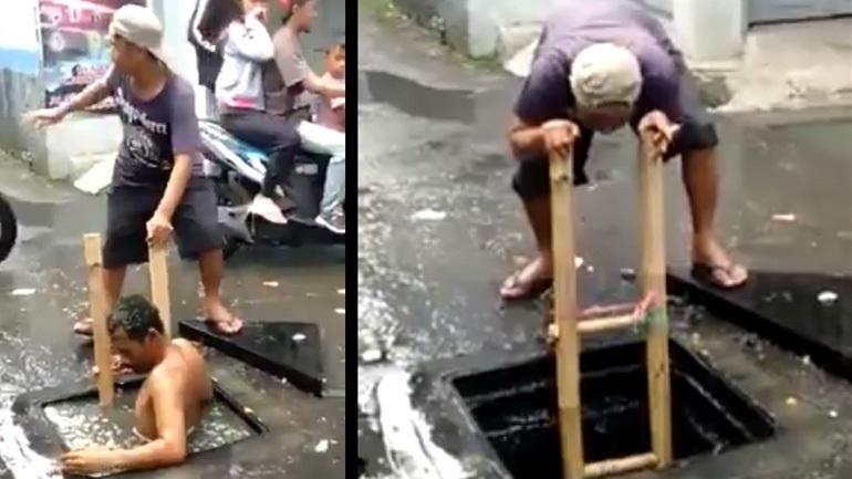 Extreme υδραυλικός στην Ινδονησία