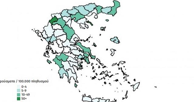 Ο χάρτης του κορονοϊού στην Ελλάδα: Ποιες περιοχές έχουν προστεθεί