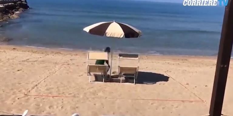 Ιταλοί βρήκαν ΤΟ κόλπο για να τηρούν αποστάσεις ασφαλείας στην παραλία