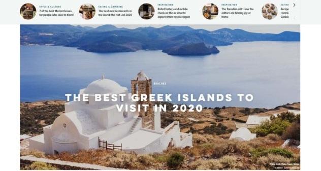 Στην κορυφαία θέση των ελληνικών προορισμών για φέτος η Σκιάθος