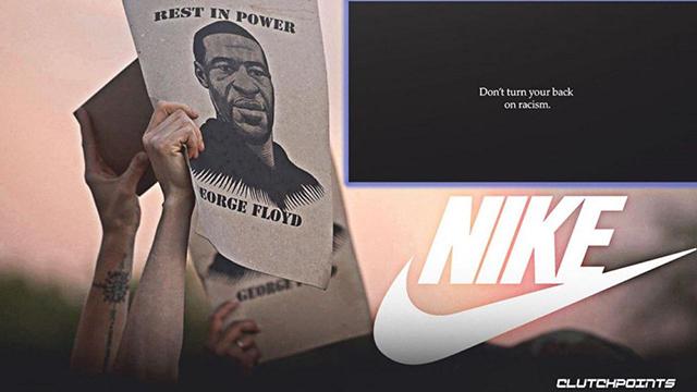 Αντιρατσιστική παρέμβαση από Nike-Αdidas για την δολοφονία Φλόιντ