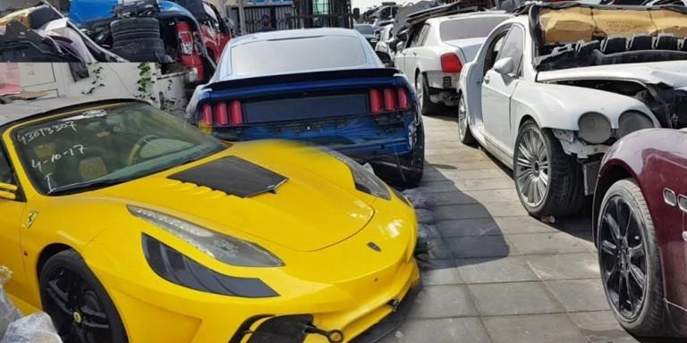 Ντουμπάι: Ενα νεκροταφείο αυτοκινήτων αλλιώτικο από τα άλλα -Με supercars που κοστίζουν εκατομμύρια