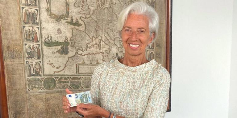 Tα νέα χαρτονομίσματα των 5 και 10€ με υπογραφή της Λαγκάρντ