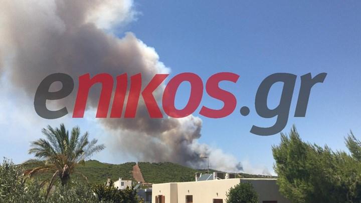 Φωτιά στο Λαύριο - Εκκενώθηκαν οικισμοί, κατασκήνωση & καταυλισμός προσφύγων