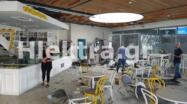 Κόρινθος: Βομβαρδισμένο τοπίο σε εμπορικό κέντρο - Ανατίναξαν τέσσερα ΑΤΜ [εικόνες]